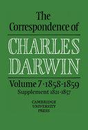 The Correspondence of Charles Darwin  Volume 7  1858 1859