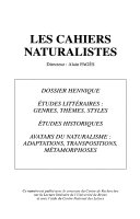 Les Cahiers naturalistes