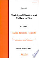 Toxicity of Plastics and Rubber in Fire Book