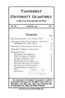 Vanderbilt University Quarterly
