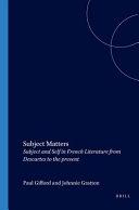 Pdf Subject Matters Telecharger