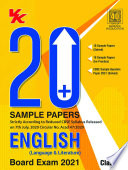 20 Plus CBSE Sample Papers English Class 10  2020 21  Examination Book