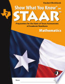 SWYK on STAAR Math Gr  7  Student Workbook
