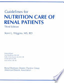Guidelines for Nutrition Care of Renal Patients