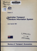 Australian Transport Literature Information System Book