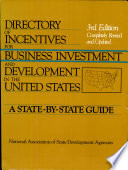Directory of Incentives for Business Investment and Development in the United States