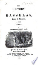 The History of Rasselas  Prince of Abyssinia  Etc