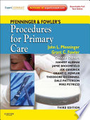 Pfenninger and Fowler s Procedures for Primary Care E Book