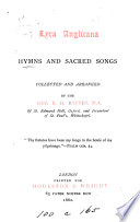 Lyra Anglicana  hymns collected by R H  Baynes Book