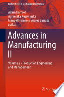 Advances in Manufacturing II