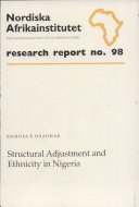 Structural Adjustment and Ethnicity in Nigeria