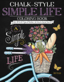 Chalk style Simple Life Coloring Book
