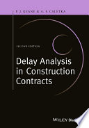 Book Cover: Delay Analysis in Construction Contracts