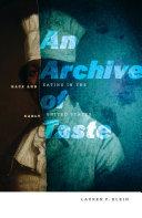 An Archive of Taste [Pdf/ePub] eBook