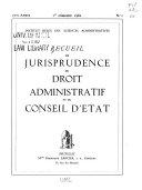 Recueil de jurisprudence du droit administratif et du Conseil d'État