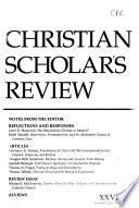 Christian Scholar's Review