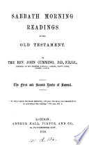 The First And Second Books Of Samuel Sabbath Morning Readings On The Old Test