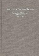 American Puritan Studies Book PDF
