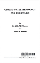 Ground water hydrology and hydraulics david b mcwhorter daniel k title page fandeluxe Image collections