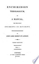 Enchiridion Theologicum  or  a Manual  for the use of Students in Divinity