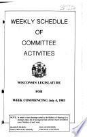 Weekly Schedule of Committee Activities Book