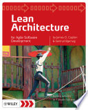 Lean Architecture  : for Agile Software Development