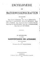 Handwörterbuch der Astronomie