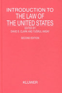 Introduction to the Law of the United States