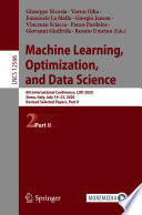 Machine Learning  Optimization  and Data Science