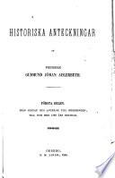 Historiska anteckningar ... : efter en i von Brinkmansk archivet på Trolle-Ljungby befintlig handskrift