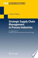 Strategic Supply Chain Management In Process Industries Book PDF