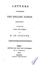 Letters concerning the English nation. Translated [by John Lockman], etc