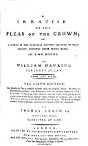 Pdf A Treatise of the Pleas of the Crown