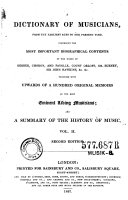 """""""A"""" Dictionary of Musicians, from the Earliest Ages to the Present Time"""