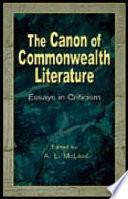 Canon of Commonwealth Literature Book