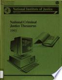 National Criminal Justice Thesaurus
