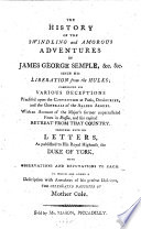 The History of the Swindling and Amorous Adventures of James George Semple