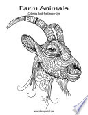 Farm Animals Coloring Book for Grown Ups 1