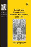 Secrets and Knowledge in Medicine and Science, 1500–1800 Pdf/ePub eBook