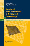 Pdf Structured Population Models in Biology and Epidemiology Telecharger