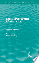 Social and Foreign Affairs in Iraq  Routledge Revivals