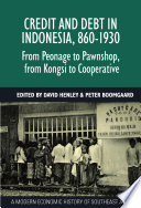 Credit and Debt in Indonesia, 860-1930