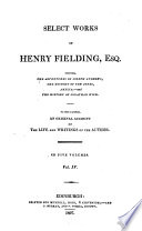 Select Works of Henry Fielding  Esq