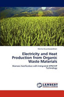 Electricity and Heat Production from Organic Waste Materials