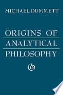 Origins Of Analytical Philosophy