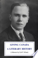 Giving Canada a Literary History Book