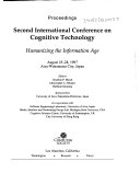 Proceedings  Second International Conference on Cognitive Technology Book