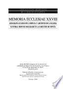 Geografía eclesiástica hispana y archivos de la Iglesia Santoral hispano-mozárabe en las diócesis de España