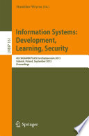 Information Systems: Development, Learning, Security