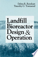 Landfill Bioreactor Design Operation Book PDF
